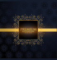 Luxury golden frame with text space vector