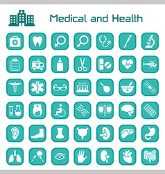 Medical and health big icon set vector image