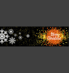 merry christmas horizontal banner winter holiday vector image