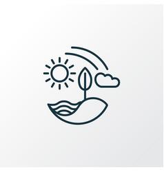 nature icon line symbol premium quality isolated vector image