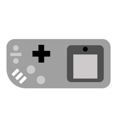Old video game flat on white vector