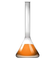 Orange liquid in glass tube vector image