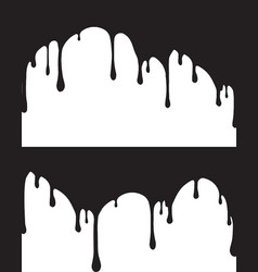 pair of black paint drips for your vector image