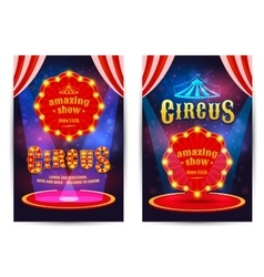 Poster for the circus vector