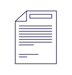 Purple line contour of paper sheet with text vector