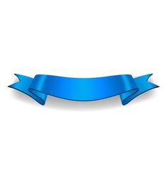 Ribbon banner satin blank vector