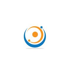 round circle orbit colored logo vector image