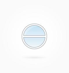 Round window frame eps 10 vector