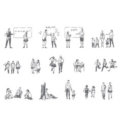 School education student life concept sketch vector