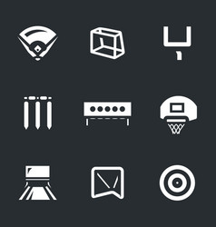 set sport target icons vector image