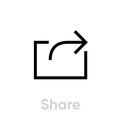 share icon editable outline vector image