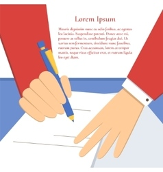 Signing of an agreement vector