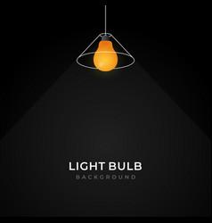 Simple line loft pendant light bulb hanging lamp vector