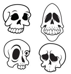 Skulls 9 vector