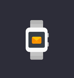 Smart watch with incoming message icon vector