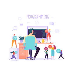 software web page programming concept programmer vector image
