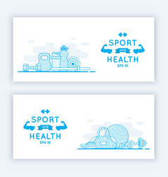sport and fitness banners vector image