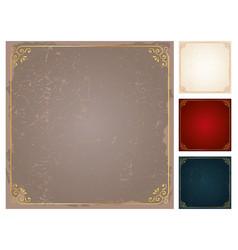 square frames and borders set decorativ vector image