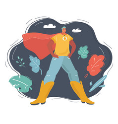 superhero man on dark vector image