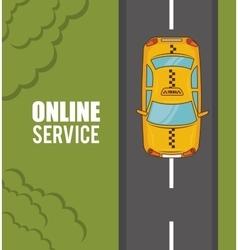 Transport service design vector