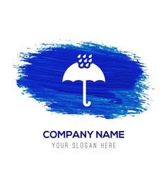 Umbrella icon - blue watercolor background vector