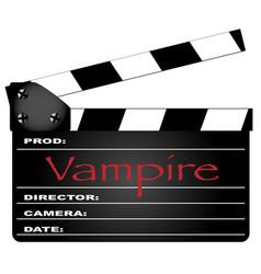 vampire clapperboard vector image