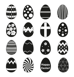 various black Easter eggs design collection eps10 vector image