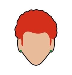 Woman head icon Avatar female design vector image