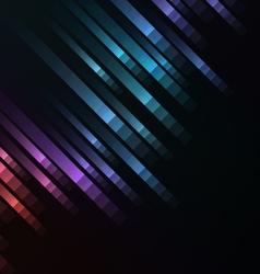abstract pixel speed racer corner background vector image vector image