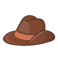 Australia cowboy hat icon cartoon style vector image