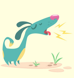 cartoon pinscher dog vector image vector image