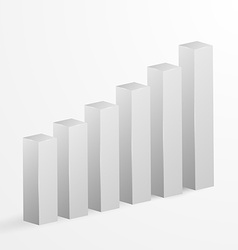 Financial bar graph background vector image