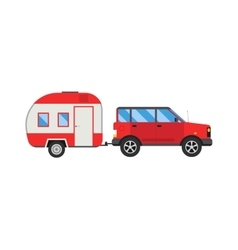 Jeep trailer vector image