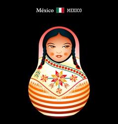 Matryoshka Mexico vector image