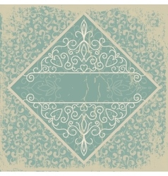 old paper with a beautiful pattern vintage vector image