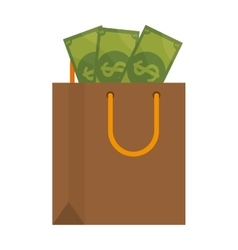 Shopping bag commercial icon vector