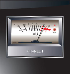 VU meter background vector image