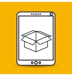 box carton icon design vector image vector image