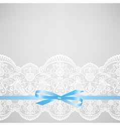 card with lace vector image vector image