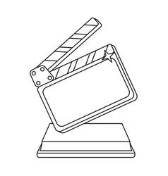 gold clapperboard on standaward for best director vector image vector image