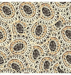 Hand drawn colorful Indian seamless patterns vector image