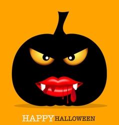 Happy Halloween design background with Halloween vector image