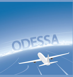 odessa skyline flight destination vector image vector image