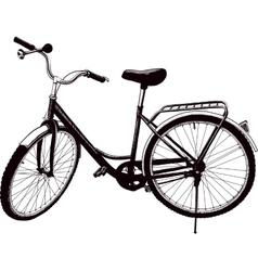 Old ladies bike vector image