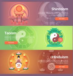 shintoism japanese religion taoism hinduism vector image