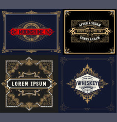 western card templates vector image vector image