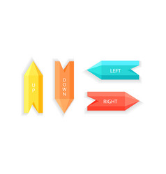 arrows showing up down right left direction vector image vector image