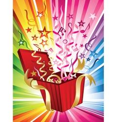 exploding birthday present vector image vector image