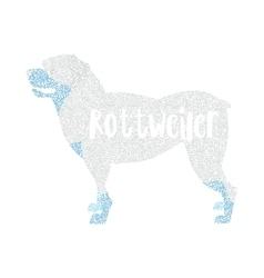 Form of round particles dog breed rottweiler vector image