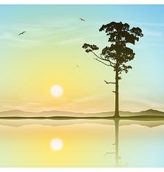 Lone Tree vector image vector image